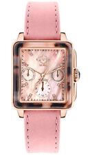 Gevril Women's 9222 Bari Tortoise Diamonds Rose-Gold IP Leather Swiss Watch