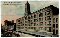 53117 Rochester NY Postcard North Side of Main Street w/ Streetcars 1912