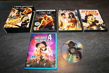 COFFRET DVD STEP UP TRILOGIE 1/2/3 VERSION UK + SEXY DANCE 4 MIAMI HEAT OCCASION