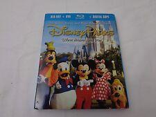 Disney Parks Where Dreams Come True (Blu-ray/DVD) + Digital Copy--NIP