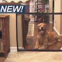Absperrgitter Türschutzgitter für Hunde Katzen, einziehbar, faltbar,