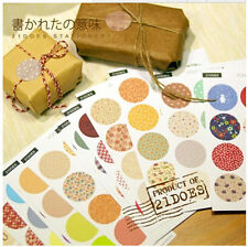 16 sheet 208 Pcs Round DIY Scrapbooking Diary Planner Deco Envelope Seal Sticker