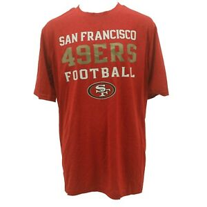 San Francisco 49ers Youth & Kids Sizes 100% Polyester NFL Athletic T-Shirt New