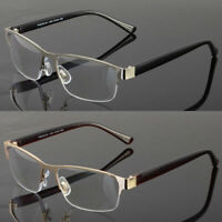 New Metal No Line Square Frame Reading Glasses Progressive Clear Lens Retro Usa