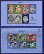 Palästina Palestine 2018 Münzen Banknoten Währung Geldwesen Kleinbögen MNH