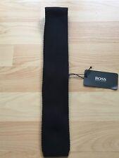 Hugo Boss Black Krawatte Krawatten Strickkrawatte Tie 5 cm schwarz