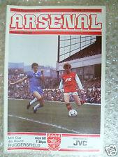 1982/83 ARSENAL v HUDDERSFIELD TOWN, 30th Nov (Leg Cup 4th RD)