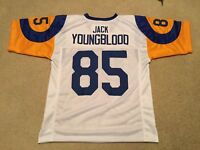 UNSIGNED CUSTOM Sewn Stitched Jack Youngblood White Jersey - M, L, XL, 2XL