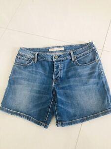 Burberry Blue Denim Shorts Size 28, Uk 10,12 New