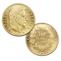 Pièce 10 Francs Or Napoléon III tête laurée Année 1864 Atelier de Paris
