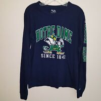 Notre Dame Fighting Irish Navy Blue Long-Sleeve Tee Men's Size Small Alta Gracia