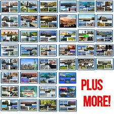 POSTCARD MAGNET- 50+ LOCATIONS - LONDON,WALES,SPAIN ETC. - FRIDGE/FREEZER MAGNET