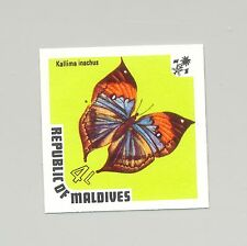 Maldives #450 Butterflies 1v Imperf Proof from set