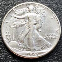 USA 1941 Walking Liberty Half Dollar 50 Cent Unzirkuliert Silber #23214