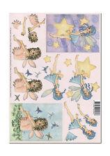 3D Bogen Motivbogen Etappenbogen Bastelbogen Grusskarte Fantasy Fee Elfen (076)