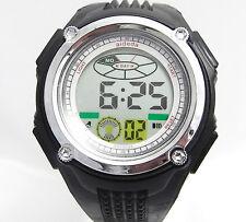 School Boys Sports Digital Watch Alarm DateDay Backlight Stopwatch Plastic Black