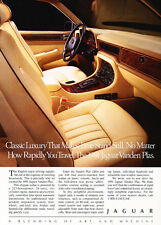 1991 Jaguar Vanden Plas interior   - Classic Car Advertisement Print Ad J91