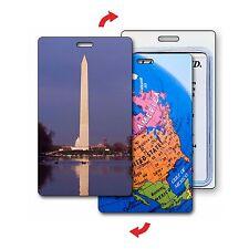 Luggage Bag Travel Tag Washington Monument Globe USA Lenticular #LT01-222#