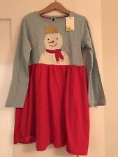Boden Snowman Christmas Dress 6-7
