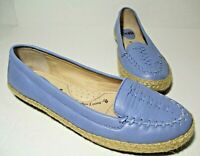 NEW Sofft Malila Womens Espadrille Loafers Size 9 Blue Leather Flats Shoes