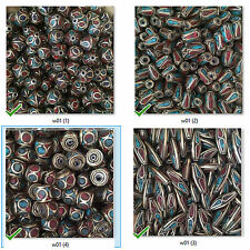 Turquoise Coral Inlaid Masala Beads Nepal $.30 each 1000 pcs Wholesale Lot W(20)