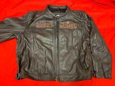 Harley Mens 5 XL BADLANDER Convertible Black Leather Jacket Vest  97146-10VM