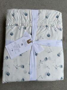 Pottery Barn Teen Lily Ashwell Ditzy Floral Ruffle Sheet Set Twin XL Blue NWT