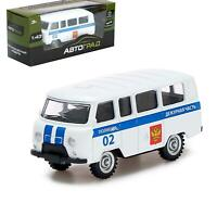 "Metal car ""Police minibus"", inertial, scale 1:43. Russia. Collection. For boys"