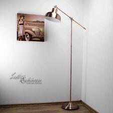 VINTAGE Lámpara de pie en Cobre Antiguo E27 60w H 135cm Sala Estar