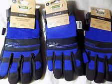 3 X Town & Country Garden TGL435L Ultimax Gardening Gloves BLUE