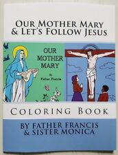Our Mother Mary & Let's Follow Jesus Combo Coloring Book ~ Stations of the Cross