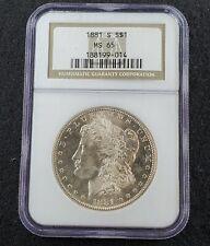 1881-S Morgan Silver Dollar San Francisco Mint White Blazer NGC MS65