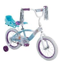 Huffy Disney Frozen 16 EZ Build Girls Bike With Sleigh Doll Carrier, White/Blue