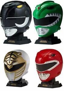 Power Rangers Mighty Morphin Legacy Helmet Display Set New-Black,White,Green,Red