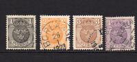 Sweden Set of 4 Stamps c1910-14 Used (7387)