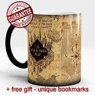 Harry Potter Magic mug Marauders map Hogwarts Color Changing Cup free Gift