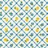 Clearance~Victoria Gardens~Yellow Rose Lattice~Cotton Fabric by Robert Kaufman