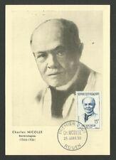 MEDECIN CH. NICOLLE / CARTE MAXIMUM CARD / ROUEN 1958