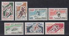 Togo 1960 ** Mi.276/82 Olympische Spiele Olympic Games Boxen Eishockey [sq4661]