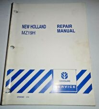New Holland MZ19H Zero Turn Mower Tractor Service Repair Manual NH Original!