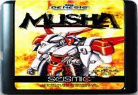 MUSHA (1991) 16 Bit Game Card For Sega Genesis / Mega Drive System
