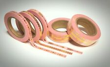 Washi Tape Sample 3 x 5mm x 1m Rosa Gold Pfeile Muster Nr.13