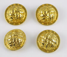 Celine Paris Button Vintage round domed gold plated braided design lot 4 pc 30mm