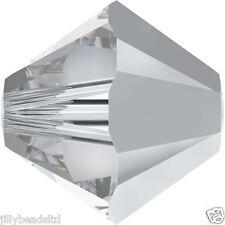 SWAROVSKI 5328 XILION Bicone Beads 4mm: Crystal CAL (50 Perline)
