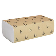 """Boardwalk 6200 Multifold Paper Hand Towel 9"""" X 9.5"""" Bleached White 16 Packs of"""