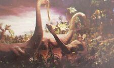 Disneyland Magic Kingdom Primeval World Brontosaurus Dinosaurs Ca Postcard