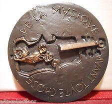 """Rare Moderne Médaille par Bezombes """" Hommage à la Musique """""""