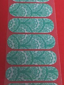 Jamberry Half Sheet - Emerald Lace - TBT Retired Feminine