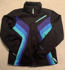 OBERMEYER Ski Snow Winter Jacket Coat, Pockets, Thumbholes, Snow Skirt, Size 16