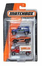 Matchbox On A Mission 3 Pack Gift Set no.1 Assorted Cars